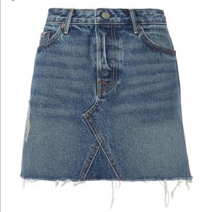 GRLFRND EVA DENIM JEAN MINI SKIRT SIZE 24